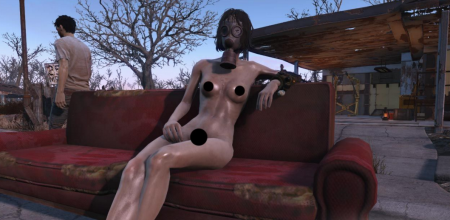 Fallout 4 голые девушки. Мод NUCLEAR Nude