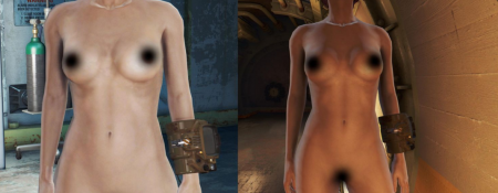 Fallout 4 голый мод Glorious Female Nude Mod